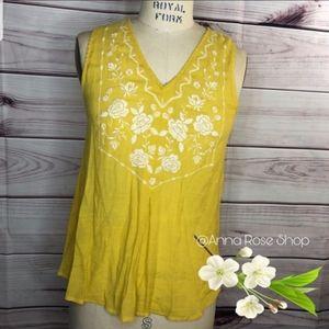 Mine Yellow Blouse size L
